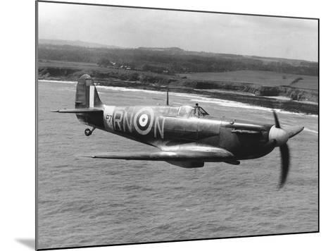 Spitfire in Flight--Mounted Photographic Print