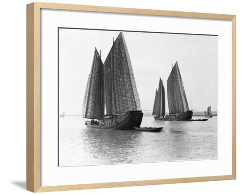 Junks on the Yangtze River--Framed Art Print