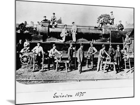 Men and Wolverhampton Locomotive--Mounted Photographic Print