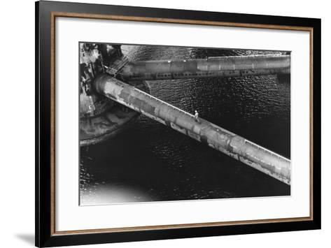 Pipes of an Oil Drilling Platform--Framed Art Print