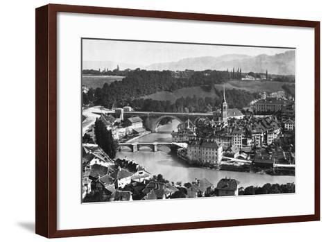 A View of Bern--Framed Art Print