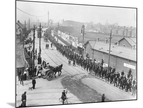 Labor Strikers March--Mounted Photographic Print