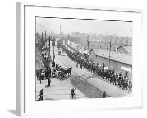 Labor Strikers March--Framed Art Print