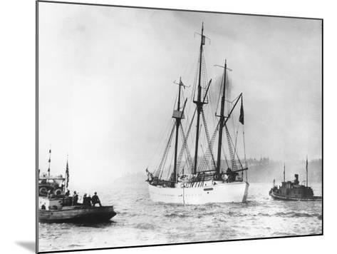 Amundsen's Vessel Returns from the Arctic--Mounted Photographic Print