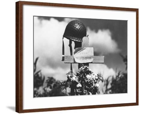 Grave of American Soldier--Framed Art Print