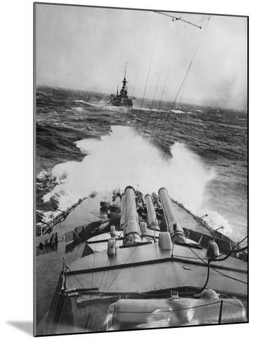 HMS Audacious in a Storm--Mounted Photographic Print