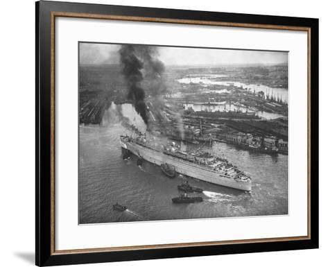 Queen Mary Docks in Southampton--Framed Art Print