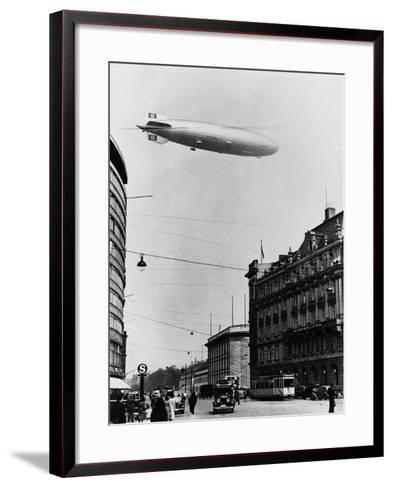 Graf Zeppelin Ii over Berlin--Framed Art Print