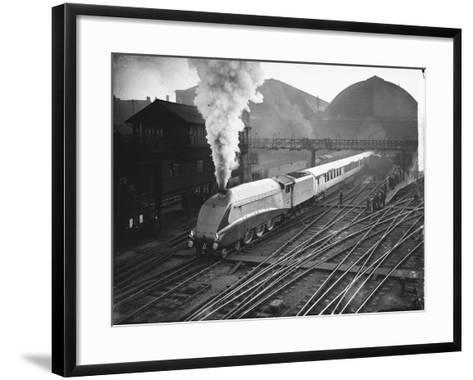 Silver Link Train Leaves King's Cross Station--Framed Art Print