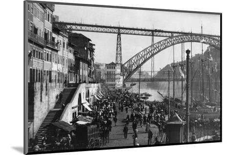 Duoro River Waterfront--Mounted Photographic Print
