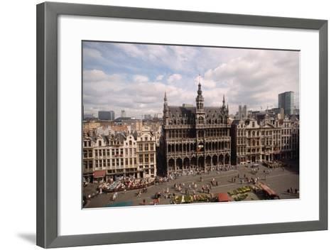 The Grand' Place in Brussels-Vittoriano Rastelli-Framed Art Print