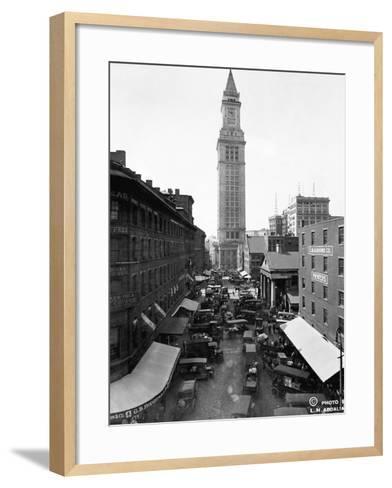 Custom House and Commercial Street--Framed Art Print