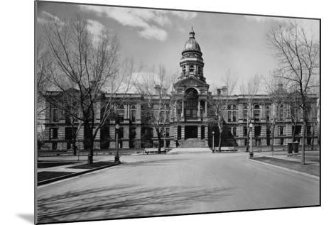 Capitol Building at the End of a Cheyenne Street--Mounted Photographic Print