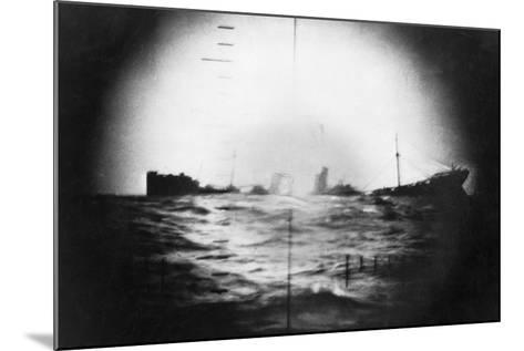 Japanese Ship Sinking--Mounted Photographic Print