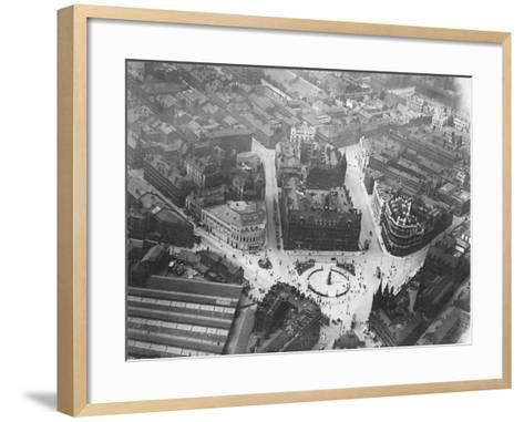 Aerial View of Leeds--Framed Art Print