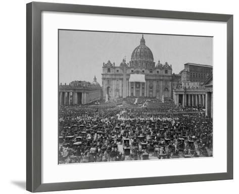 Papal Benediction at St. Peter's Basilica--Framed Art Print
