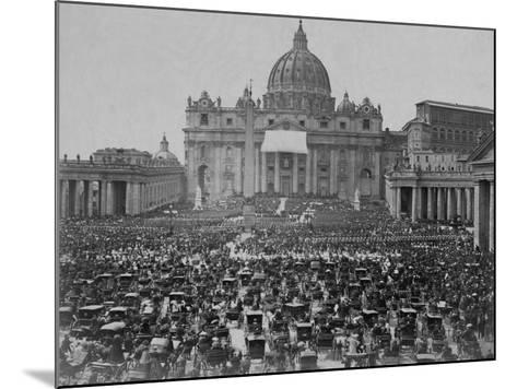 Papal Benediction at St. Peter's Basilica--Mounted Photographic Print