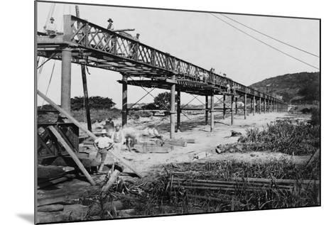 Men Build a Railway Bridge--Mounted Photographic Print