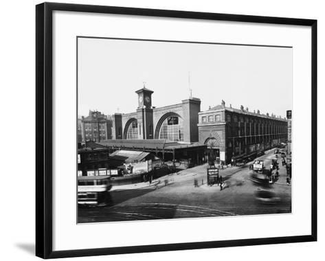 King's Cross Railway Station--Framed Art Print