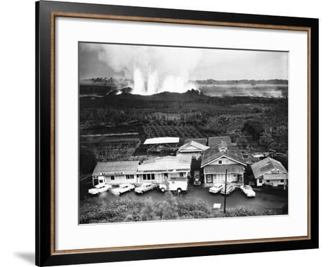 Eruption of Kilauea Near Kapoho Plantation--Framed Art Print