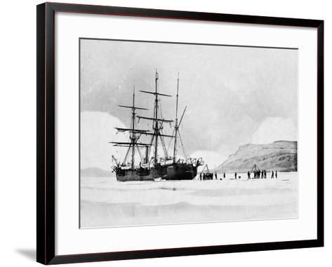 HMS Alert in Arctic Circle--Framed Art Print