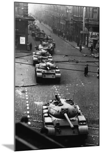Russian Tanks on Budapest Street in 1956--Mounted Photographic Print