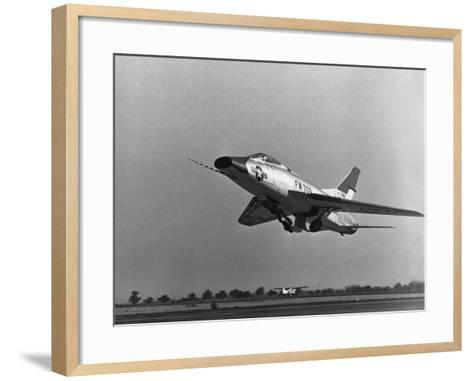 North American Super Sabre--Framed Art Print