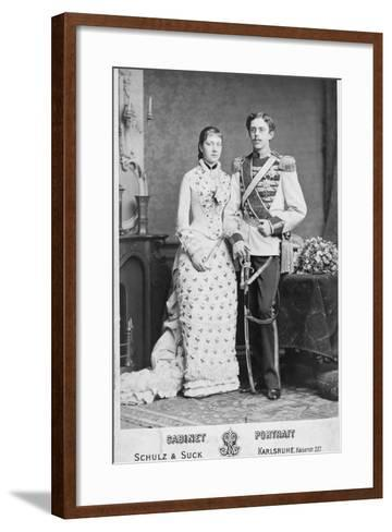 King of Sweden and His Wife--Framed Art Print