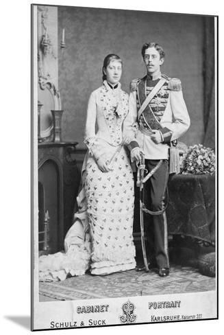 King of Sweden and His Wife--Mounted Photographic Print