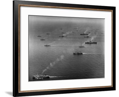 Ships of the US Sixth Fleet--Framed Art Print