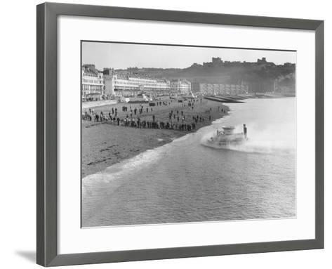 SRNI Hovercraft Arriving at Dover after the First Channel Crossing--Framed Art Print