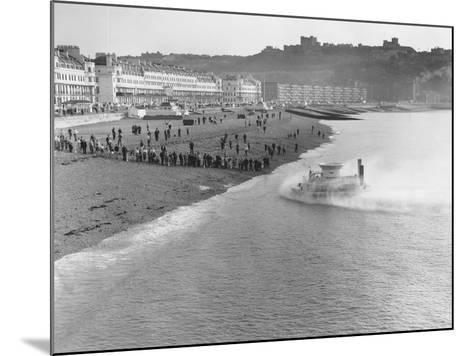 SRNI Hovercraft Arriving at Dover after the First Channel Crossing--Mounted Photographic Print