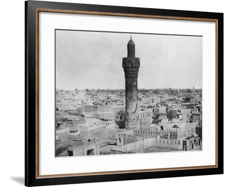 Baghdad Minaret--Framed Art Print