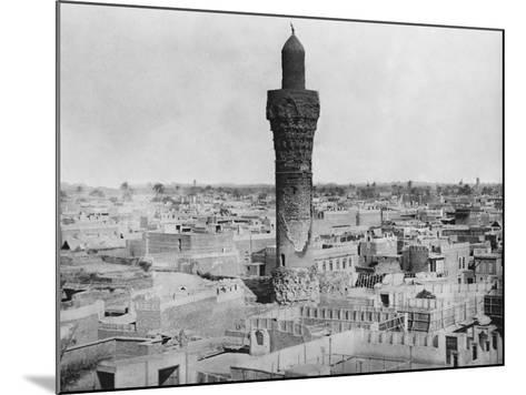 Baghdad Minaret--Mounted Photographic Print