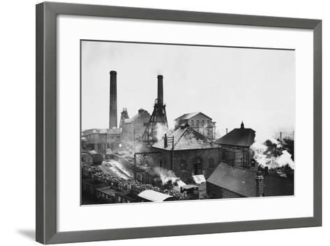 Pleasley Colliery in Derbyshire--Framed Art Print
