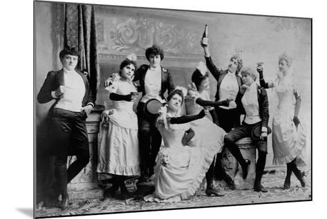 The Black Crook Company-Napoleon Sarony-Mounted Photographic Print