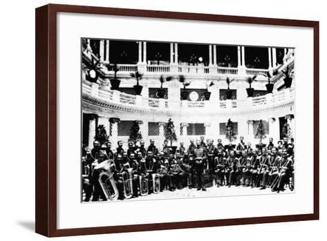 John Sousa and United States Marine Corps Band--Framed Art Print