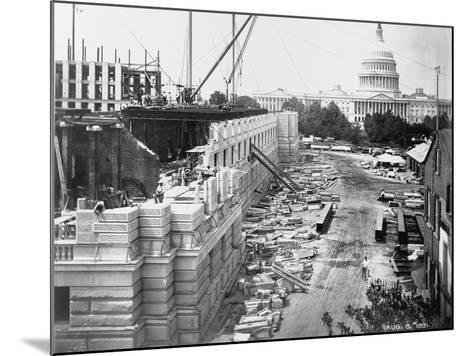 Library of Congress under Construction--Mounted Photographic Print