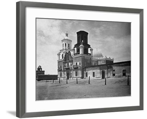 San Xavier Mission under a Clear Arizona Sky--Framed Art Print