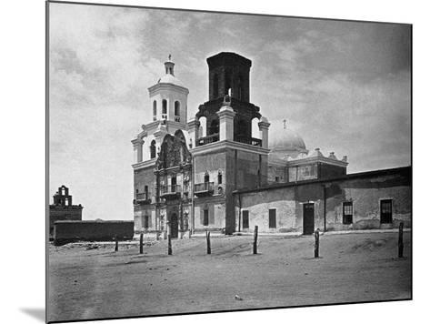 San Xavier Mission under a Clear Arizona Sky--Mounted Photographic Print