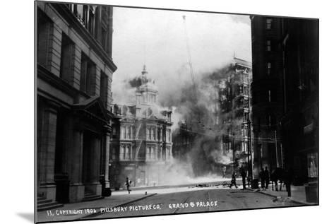 The Grand Palace on Fire--Mounted Photographic Print
