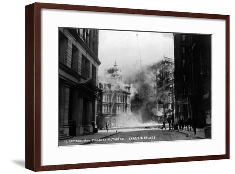 The Grand Palace on Fire--Framed Art Print