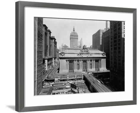 Grand Central Station in Manhattan--Framed Art Print