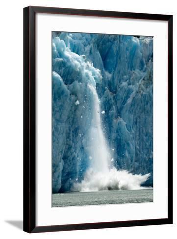 Icebergs Calving from Glacier, Alaska-Paul Souders-Framed Art Print