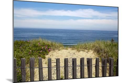 Fence and Sand Dunes on Coast-Paul Souders-Mounted Photographic Print