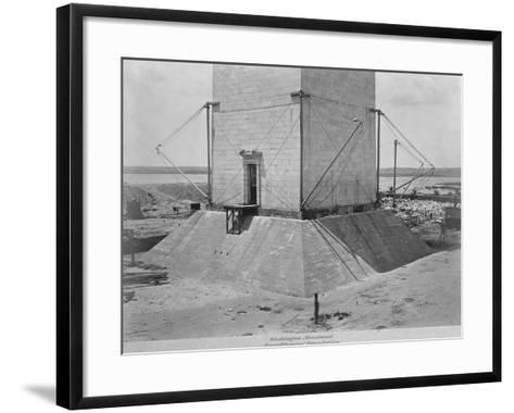 Strengthening the Foundation of Washington Monument--Framed Art Print