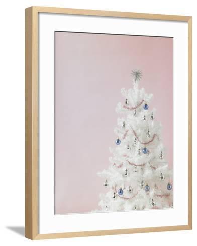 White Christmas Tree-Patrick Norman-Framed Art Print