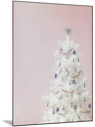 White Christmas Tree-Patrick Norman-Mounted Photographic Print