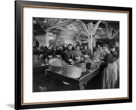 Women Canning Oysters--Framed Art Print
