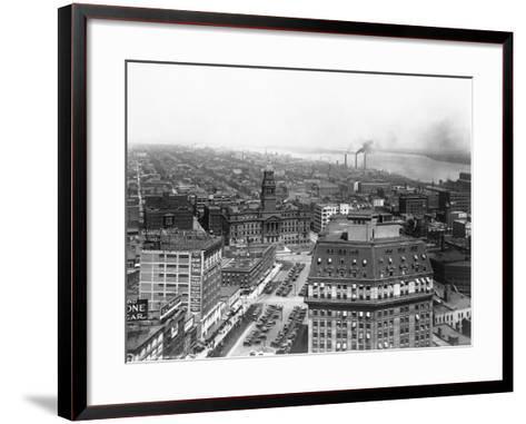 Wayne County Building in Detroit, Michigan--Framed Art Print